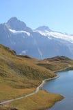 Alpi svizzere e Bachalpsee Fotografia Stock Libera da Diritti
