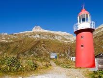 Alpi svizzere, faro del passaggio di Oberalp Fotografia Stock Libera da Diritti