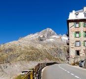 Alpi svizzere, ghiacciaio di Furka Fotografia Stock Libera da Diritti