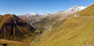 Alpi svizzere, ghiacciaio di Furka Fotografie Stock