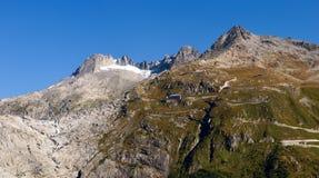 Alpi svizzere, ghiacciaio di Furka Immagine Stock Libera da Diritti