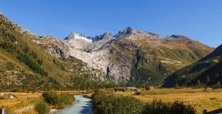Alpi svizzere, ghiacciaio di Furka Fotografie Stock Libere da Diritti