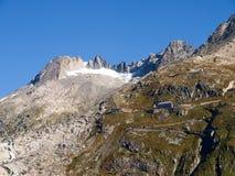 Alpi svizzere, ghiacciaio di Furka Fotografia Stock