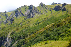 Alpi svizzere in giorno di estate Fotografie Stock