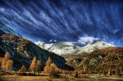 Alpi svizzere HDR Fotografie Stock