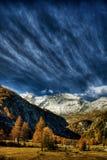 Alpi svizzere HDR Fotografie Stock Libere da Diritti