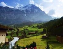 Alpi svizzere in il tempo di primavera Fotografia Stock Libera da Diritti