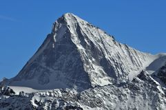 Alpi svizzere: L'ammaccatura Blanche Fotografia Stock Libera da Diritti