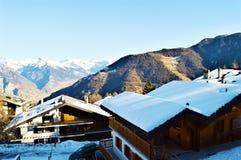 Alpi svizzere, La Tzoumaz Immagini Stock