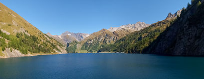 Alpi svizzere, lago di Luzzone Fotografie Stock