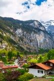 Alpi svizzere Lauterbrunnen, Svizzera, Europa Immagine Stock
