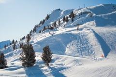 Alpi svizzere nell'inverno Fotografia Stock