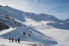 Alpi svizzere nell'inverno Fotografia Stock Libera da Diritti