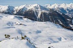 Alpi svizzere nell'inverno Fotografie Stock Libere da Diritti