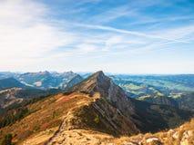 Alpi svizzere nella regione di Lucerna Fotografia Stock Libera da Diritti