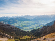 Alpi svizzere nella regione di Lucerna Immagini Stock Libere da Diritti