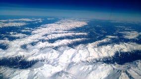 Alpi svizzere osservate dall'aereo Immagini Stock