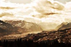 Alpi svizzere, paesaggio Immagini Stock Libere da Diritti