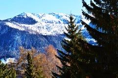 Alpi svizzere Paesaggio della montagna Immagine Stock