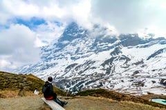 Alpi svizzere piene d'ammirazione vicino ad Innsbruck Immagini Stock