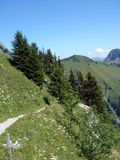 Alpi svizzere prima di estate Fotografia Stock