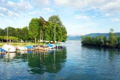 Alpi svizzere in Rapperswil Fotografie Stock Libere da Diritti