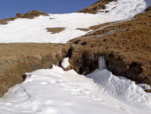 Alpi svizzere - San Bernardino Fotografia Stock
