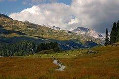 Alpi svizzere in Silvaplana - Engadine Svizzera Immagini Stock Libere da Diritti