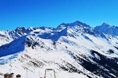 Alpi svizzere sotto neve Fotografia Stock Libera da Diritti