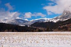 Alpi svizzere a Trin Mulin Immagini Stock