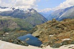 Alpi svizzere vicino al Cervino Fotografia Stock