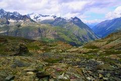 Alpi svizzere vicino al Cervino Fotografie Stock