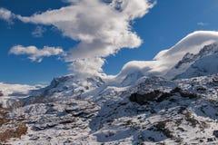 Alpi svizzere vicino alla località di soggiorno di Zermatt Fotografia Stock Libera da Diritti