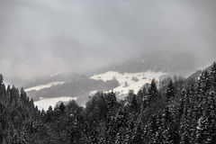 Alpi svizzere vicino a Tavate, Svizzera Fotografie Stock Libere da Diritti