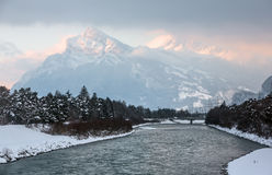 Alpi svizzere vicino a Tavate, Svizzera Fotografia Stock Libera da Diritti