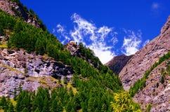 Alpi svizzere vicino a Zermatt, Svizzera Fotografia Stock