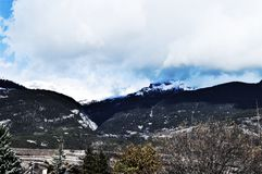 Alpi svizzere, vista Fotografia Stock