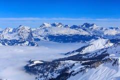 Alpi svizzere, vista dal Mt Fronalpstock Fotografia Stock Libera da Diritti