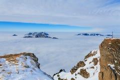 Alpi svizzere, vista dal Mt Fronalpstock nell'inverno Fotografie Stock Libere da Diritti