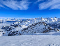 Alpi svizzere, vista dal Mt Fronalpstock nell'inverno Fotografie Stock