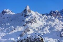 Alpi svizzere, vista dal Mt Fronalpstock nell'inverno Immagine Stock Libera da Diritti