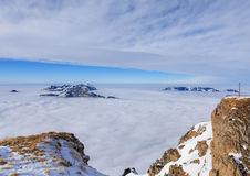 Alpi svizzere, vista dal Mt Fronalpstock nell'inverno Immagini Stock