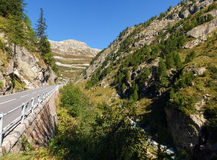 Alpi svizzere, vista del passaggio di Grimsel Fotografia Stock