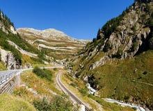 Alpi svizzere, vista del passaggio di Grimsel Immagine Stock