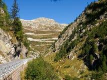 Alpi svizzere, vista del passaggio di Grimsel Immagini Stock