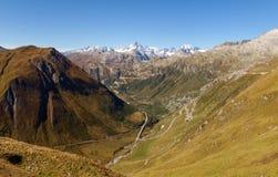 Alpi svizzere, vista del passaggio di Grimsel Immagine Stock Libera da Diritti