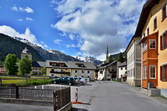Alpi svizzere, Zernez-castello Wildenberg Immagine Stock