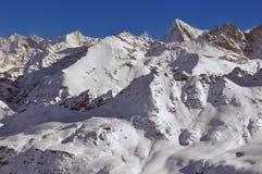Alpi svizzere: Zinalrothorn ed ammaccatura Blanche Immagine Stock