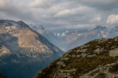 Alpi tedesche accurate della valle Immagine Stock Libera da Diritti