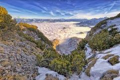 Alpi tedesche & austriache Fotografie Stock
